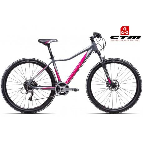 Ctm Christine 1.0 2017 dámské horské kolo šedé růžové