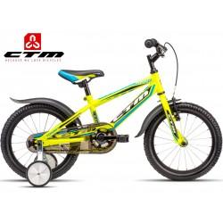 Dětské kolo TOMMY CTM 2016 žluté modré s kolečky