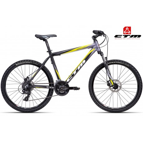 Černé žluté horské kolo TERRANO 2.0 CTM 2016
