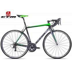 Silniční kolo Spinn 2.0 CTM 2017 carbon matné černé zelené