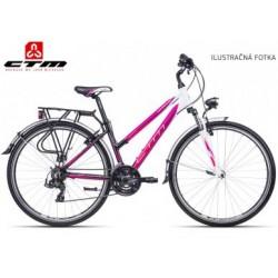 JESSIE CTM 2017 bílé růžové dámské treking / cross kolo s blatníky výprodej
