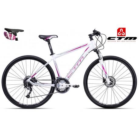 CTM ELITE 2017 bílé fialové dámské kolo