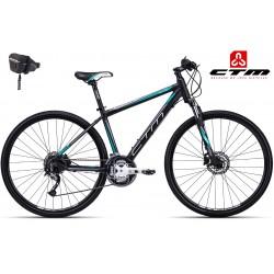 CTM ELITE 2017 matné černé zelené dámské kolo
