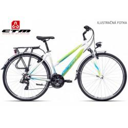 CTM Bora 1.0 2017 matné černé zelené dámské cross treking kolo