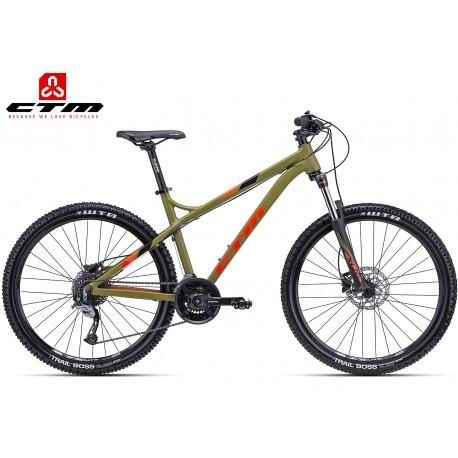 CTM ZEPHYR 2018 horské enduro mtb kolo olivové oranžové