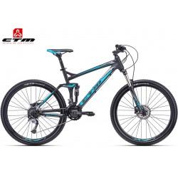 ROCKER CTM 2018 černé modré horské celoodpružené kolo