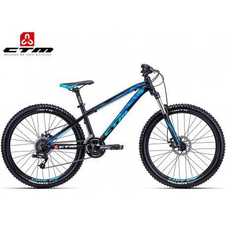 CTM RAPTOR 1.0  2018 černé modré horské kolo