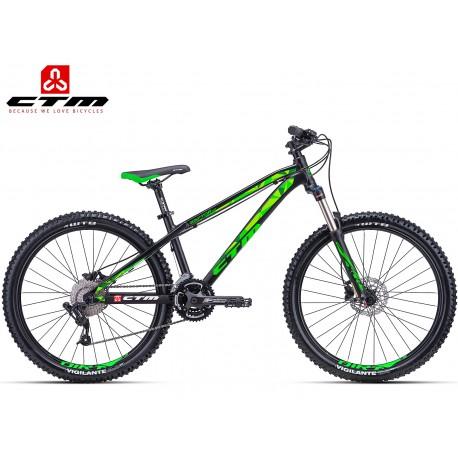 CTM RAPTOR 2.0  2018 černé zelené horské kolo