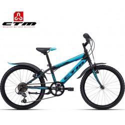 CTM SCOOBY 2.0 2019 černé modré dětské chlapecké kolo