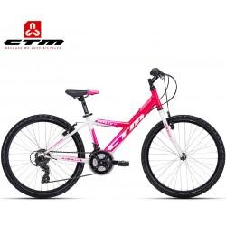 WILLY 1.0 CTM 2019 dětské dívčí kolo 24 bílé růžové