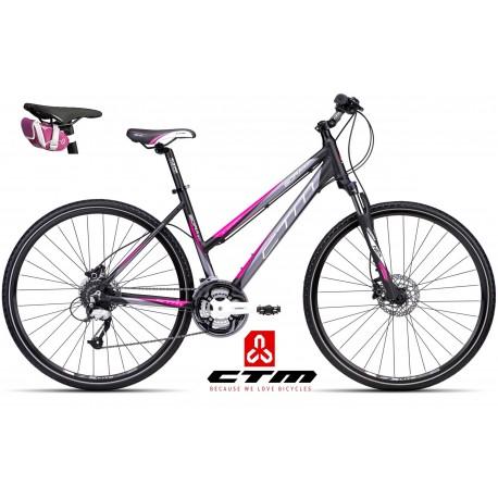 Horské jízdní kolo CTM BORA 2.0 2016 černé růžové