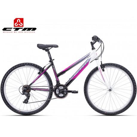 Ctm Stefi 1.0 2019 dámské kolo nízký rám černé fialové
