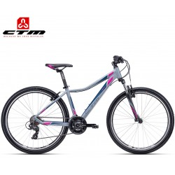 Ctm Charisma 1.0 2019 dámské horské kolo matné šedé růžové