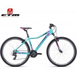 Ctm Christine 1.0 2019 dámské horské kolo černé tyrkysově modrá aqua