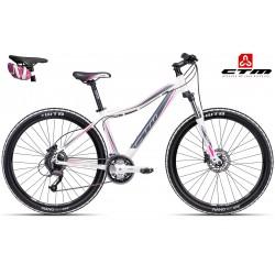 Horské jízdní kolo CTM CHARISMA 3.0 2016 bílé růžové