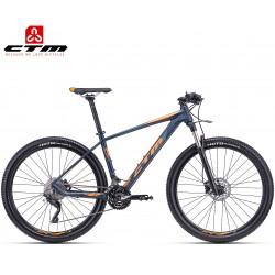 CTM Caliber 1.0 2019 mtb horské kolo petrolejové modré oranžové