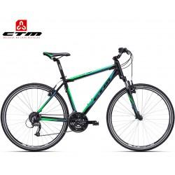TRANZ 1.0 CTM 2019 černé zelené cross trekingové kolo