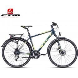 TRANZ 2.0 CTM 2019 petrolejové modré limetkové žluté cross trekingové kolo