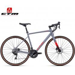 Gravel bike kolo Ctm 2019 Koyuk 2.0 šedé červené