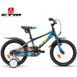Chlapecké dětské kolo TOMMY CTM 2020 petrolejové modré žluté