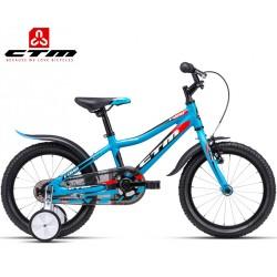 Dětské kolo FOXY CTM 2020 modré červené s balančními kolečky