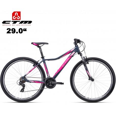 """Ctm Charisma 1.0 2020 dámské horské kolo modré růžové (29"""")"""