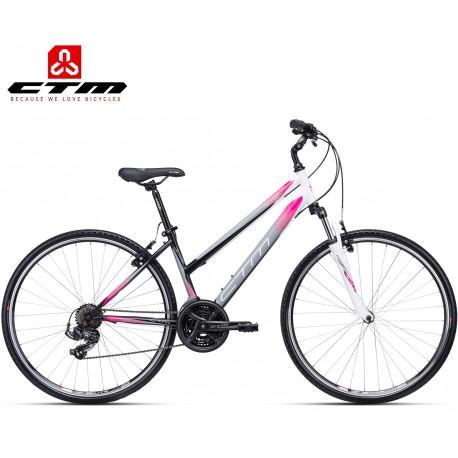 JESSIE CTM 2020 černé růžové dámské kolo treking / cross