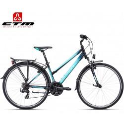 JESSIE CTM 2020 černé modré dámské kolo s blatníky a nosičem
