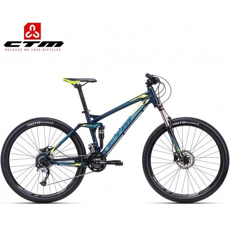ROCKER CTM 2020 modré žluté horské celoodpružené kolo
