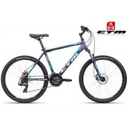CTM REBEL 2017 černé modré horské kolo