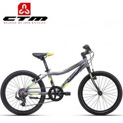 CTM JERRY 1.0 2021 lehké dětské kolo šedé zelené