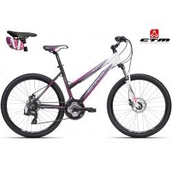 SUZZY 2.0 CTM 2016 matné černé růžové dámské kolo
