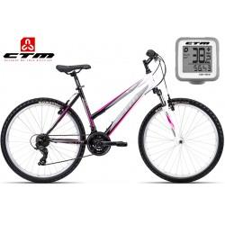 Ctm Stefi 2.0 2017 dámské horské kolo černé růžové