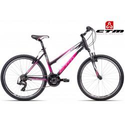 Ctm Suzzy 1.0 2017 dámské horské kolo černé růžové