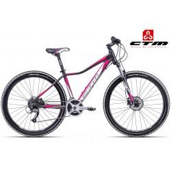 Ctm Charisma 3.0 2017 dámské horské kolo černé růžové