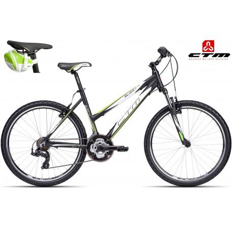 SUZZY 1.0 CTM 2016 černé zelené dámské kolo