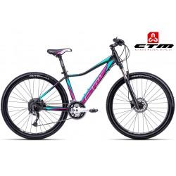 Ctm Charisma 4.0 2017 dámské horské kolo černé fialové